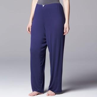 Vera Wang Plus Size Simply Vera Pajamas: Basic Luxury Pajama Pants