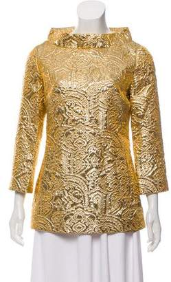 Michael Kors Metallic Jacquard Top