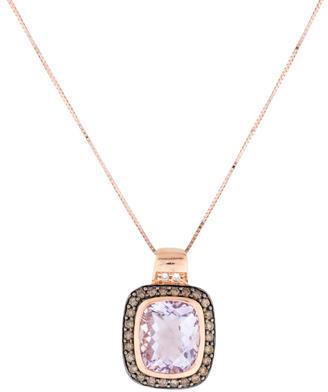 Le Vian 14K Amethyst & Diamond Pendant Necklace $675 thestylecure.com