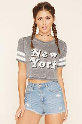 Forever 21 New York Graphic Burnout Tee
