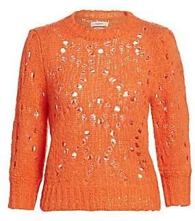 Etoile Isabel Marant Women's Sinead Crochet Knit Sweater