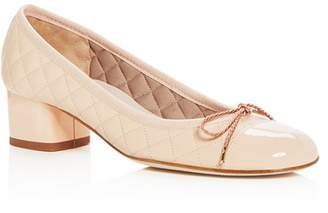 Paul Mayer Women's Titou Quilted Leather Block-Heel Pumps
