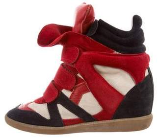 Isabel Marant Suede Wedge Sneakers