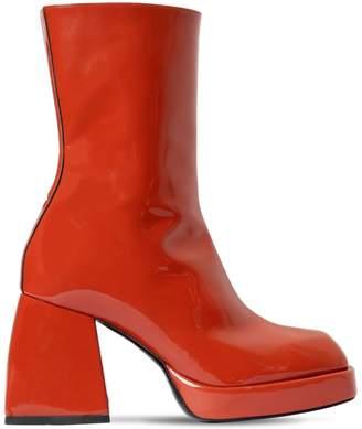 Nodaleto 85mm Bulla Corta Patent Leather Boots