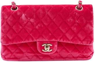 Chanel Timeless/Classique Pink Velvet Handbag