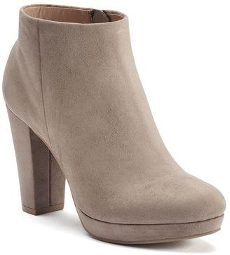 LC Lauren Conrad Women's Platform Ankle Boots $69.99 thestylecure.com
