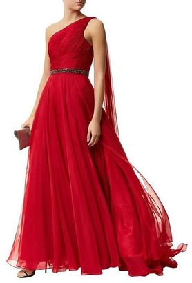 Jovani - Stunning Asymmetrical Long Gown in Jeweled Waist 46949 $610 thestylecure.com