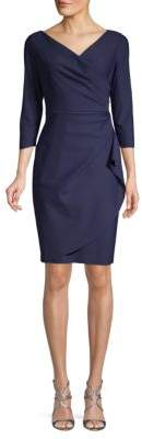 Alex Evenings Wrap Sheath Dress