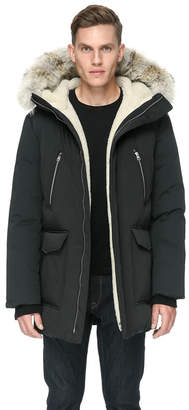 Soia & Kyo DERICK classic down jacket with sherpa-lined hood