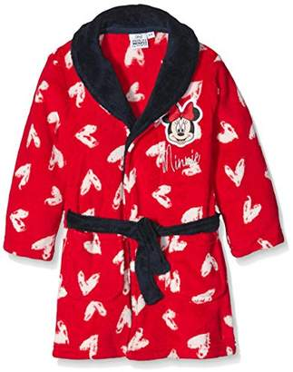 Disney Girl's Minnie Mouse Heart Bathrobe