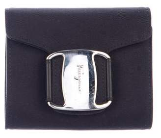 Salvatore Ferragamo Leather-Lined Flap Wristlet