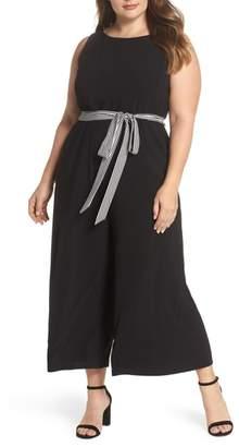 Gabby Skye Belted Culotte Jumpsuit