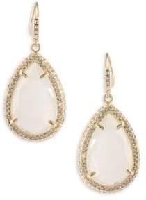 ABS by Allen Schwartz Anytime Anywhere Crystal Teardrop Earrings