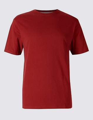 Marks and Spencer Slim Fit Pure Cotton T-Shirt with Cool ComfortTM