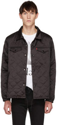 Levi's Levis Black Quilted Coachs Trucker Jacket