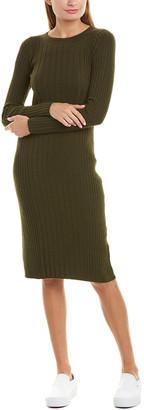 Vince Mixed Rib Wool & Cashmere-Blend Sheath Dress