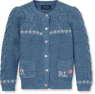 Ralph Lauren Intarsia Cotton-Wool Cardigan