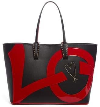 Christian Louboutin Cabata Love Embellished Leather Tote