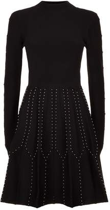 Sandro Studded Cut-Out Dress