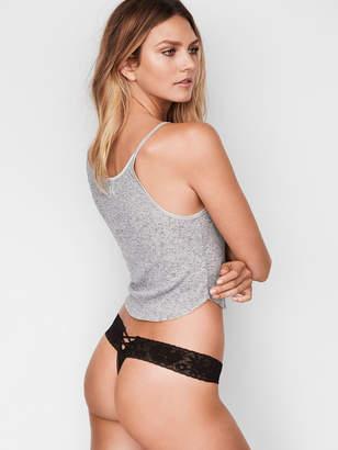 Victoria's Secret The Lacie Lace-up Thong Panty