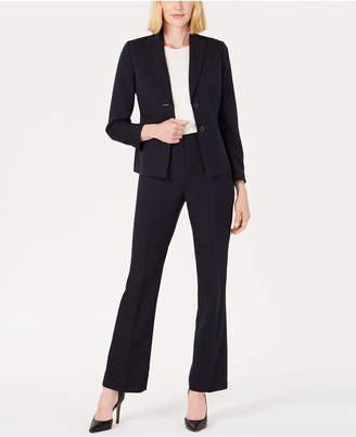 Le Suit Peak-Collar Two-Button Pantsuit
