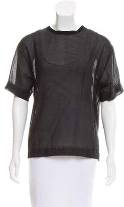 Marc Jacobs Silk-Blend Short Sleeve Top w/ Tags