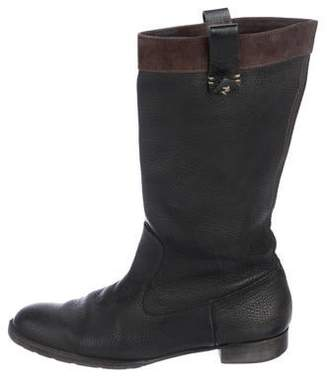 Henry Beguelin Leather Mid-Calf Boots