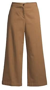 Max Mara Women's Dudy Twill Wide Leg Trousers