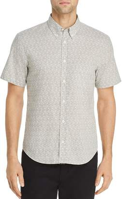 Billy Reid Palisades Tuscam Geometric-Print Regular Fit Button-Down Shirt