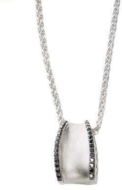 Black Diamond EFFY Balissima Pendant Necklace in Sterling Silver