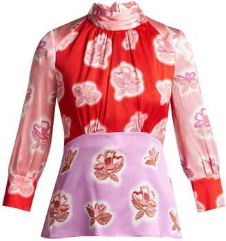 Peter Pilotto Floral-print silk blouse