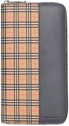 Burberry Small Scale Check and Leather Ziparound Wallet