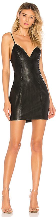 Becca Faux Leather Dress
