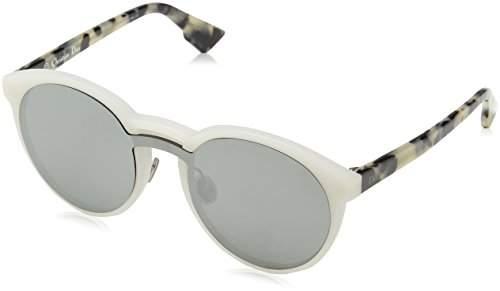 Christian Dior Damen Sonnenbrille DIORONDE1 0T X61, Weiß (Mtwhite Havana/Grey Silver Ar), 99