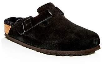 Birkenstock Men's Boston Leather & Shearling Mules