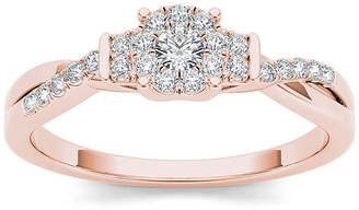 MODERN BRIDE 1/4 CT. T.W. Diamond 10K Rose Gold Engagement Ring