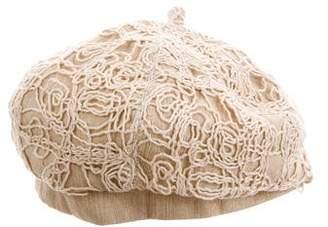 Eugenia Kim Tan Crochet Beret