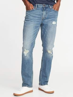 Old Navy Straight Built-In Flex Distressed Jeans for Men