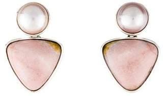 Stephen Dweck Pearl & Jasper Drop Earrings
