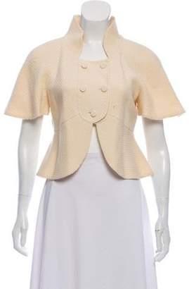 Fendi Wool Short Sleeve Jacket Cream Wool Short Sleeve Jacket