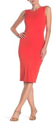 Velvet Torch Racerback Bodycon Midi Dress