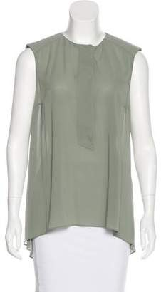 Brunello Cucinelli Silk Monili-Trimmed Top