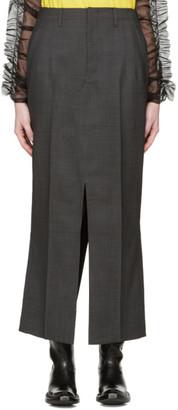 Junya Watanabe Grey Slit Trouser Skirt $740 thestylecure.com