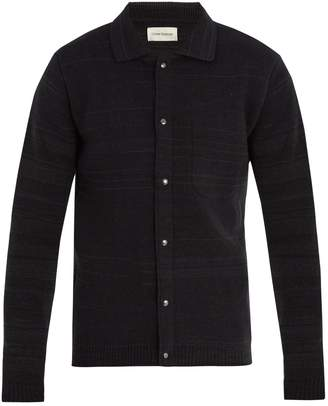 Oliver Spencer Roxwell striped wool-knit jacket