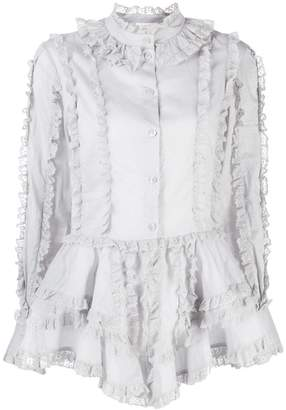 See by Chloe lace trimmed shirt
