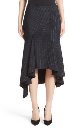 Women's Jason Wu Pinstripe Stretch Asymmetrical Skirt $1,395 thestylecure.com