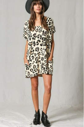 By Together Leopard Oversized tunic