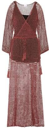 Anna Kosturova Mesh cotton maxi dress