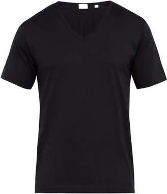 Handvaerk - V Neck Cotton Pyjama Top - Mens - Black