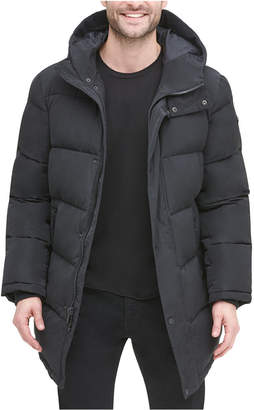 DKNY Men Quilted Water Resistant Hooded City Full Length Parka Jacket